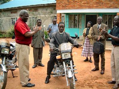 Canon Kezekiah on new motorbike