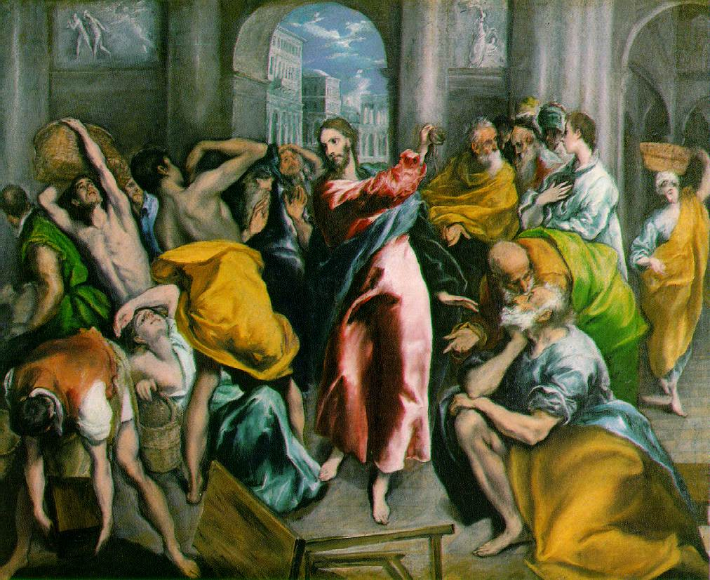 A1 - El Greco Cleansing the Temple c. 1600-2