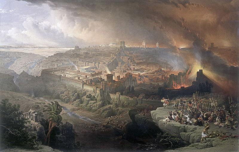 A2 - jerusalem-destruction-70-ad-painting-by-roberti