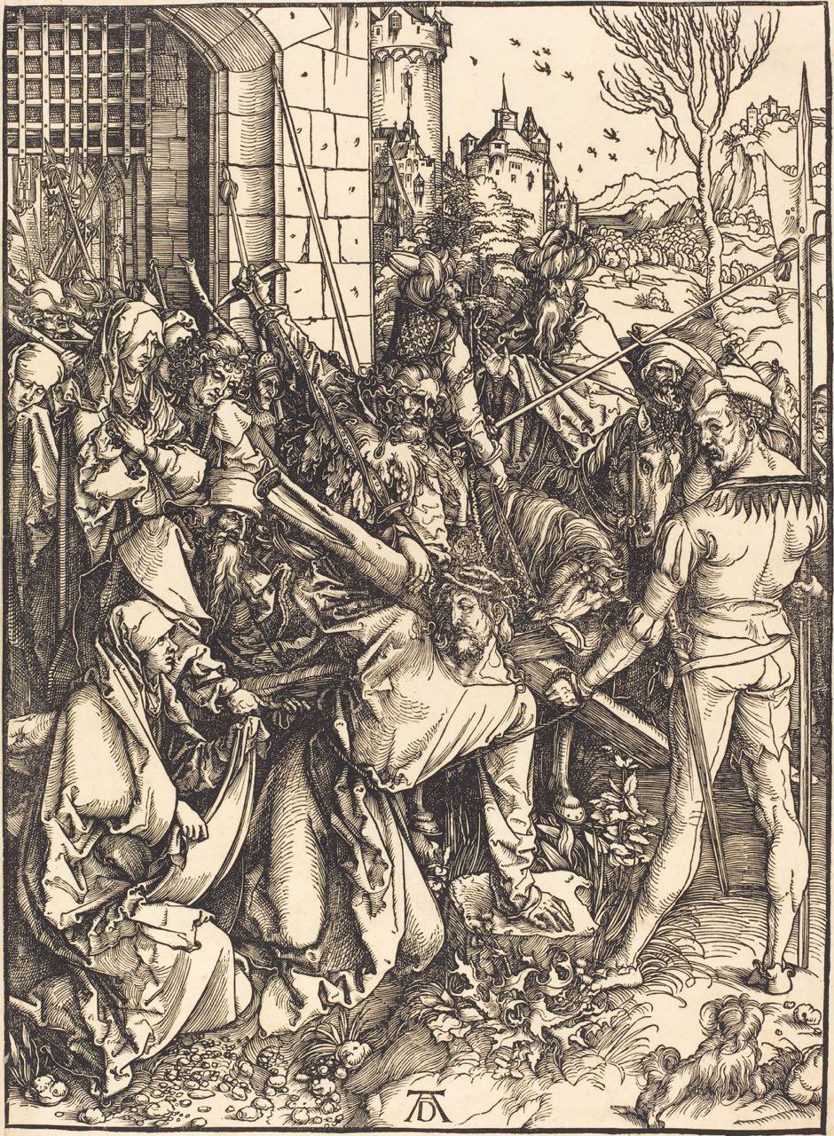 Christ Carrying the Cross, woodcut, Albrecht Dürer, 1498/99