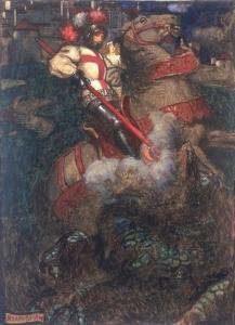 St George Slaying the Dragon, John Byam Liston-Shaw
