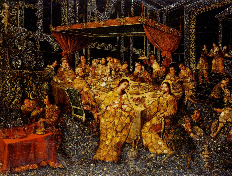 The Wedding in Cana, Nicolas Correa, 1693 (Mexico)