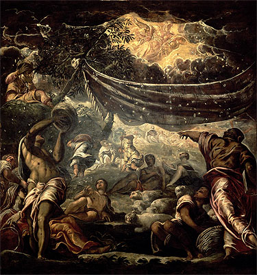 __Jacopo Tintoretto (Robusti)-The Fall of Manna-1577