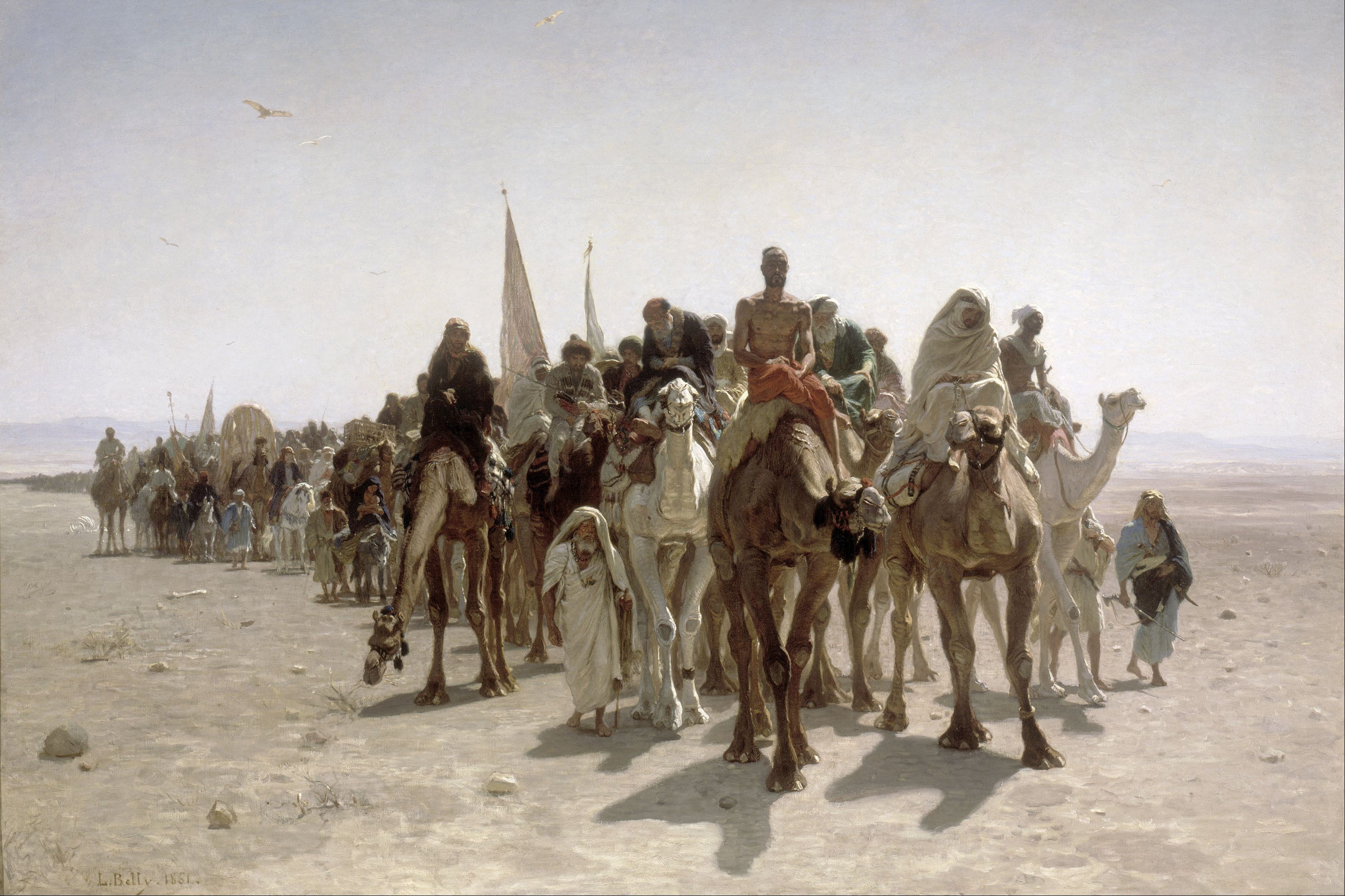 Léon_Belly_-_Pilgrims_going_to_Mecca_-_Google_Art_Project