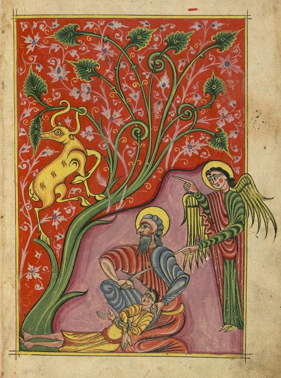 Lent 5 - Armenian Gospels, Sacrifice of Isaac, Walters Manuscript W.543, fol. 4r-c1455 (2)