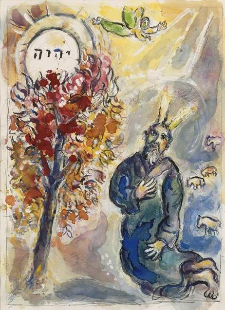 Lent 5 - Moses and the burning bush Marc Chagall