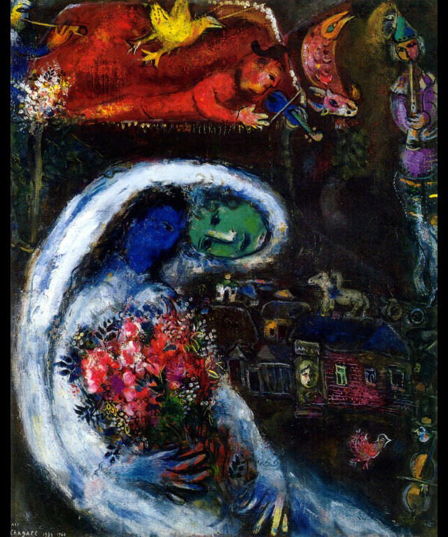 Marriage-Chagall-bride-with-blue-face