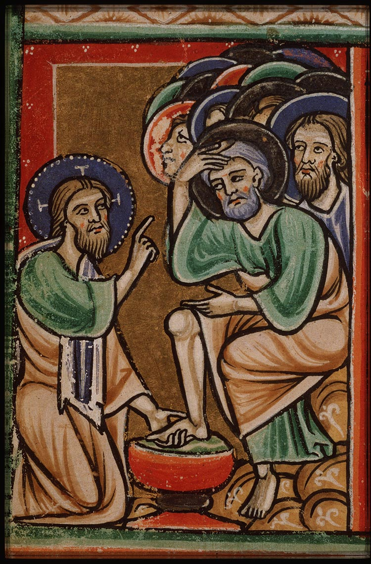 Maundy - Psalter - Unknown French Master - Washing feet