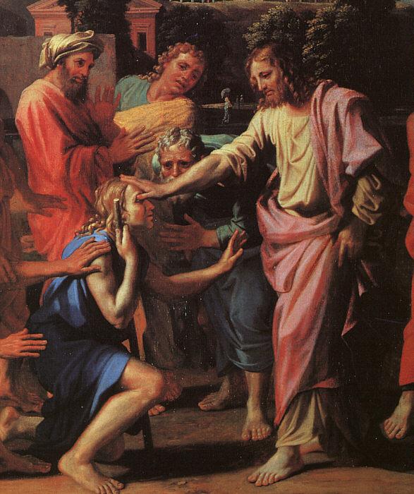 Quinqua - Jesus healing the blind man - Nicolas Poussin
