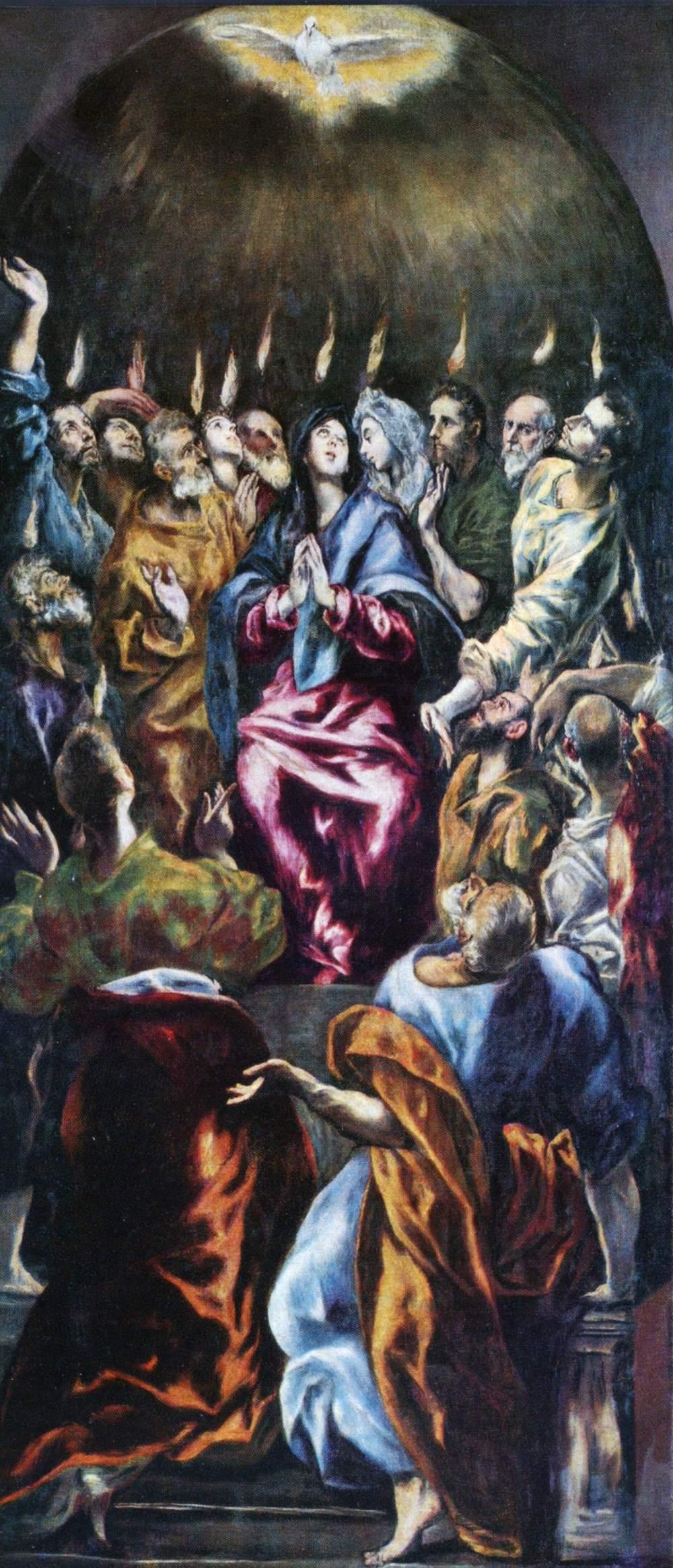 SacramentPentecost by El Greco