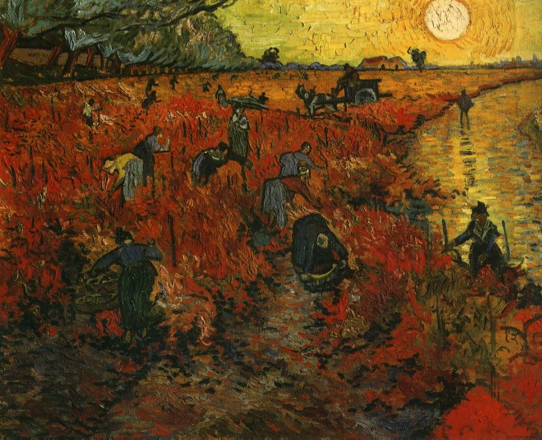 Sept - Van Gogh - The Red Vineyard