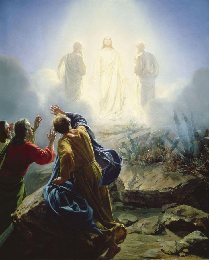 """Transfiguration"" by Carl H. Bloch, Danish Painter, 1834-1890. Oil on Copper Plate. Public domain. Source: www.carlbloch.com."