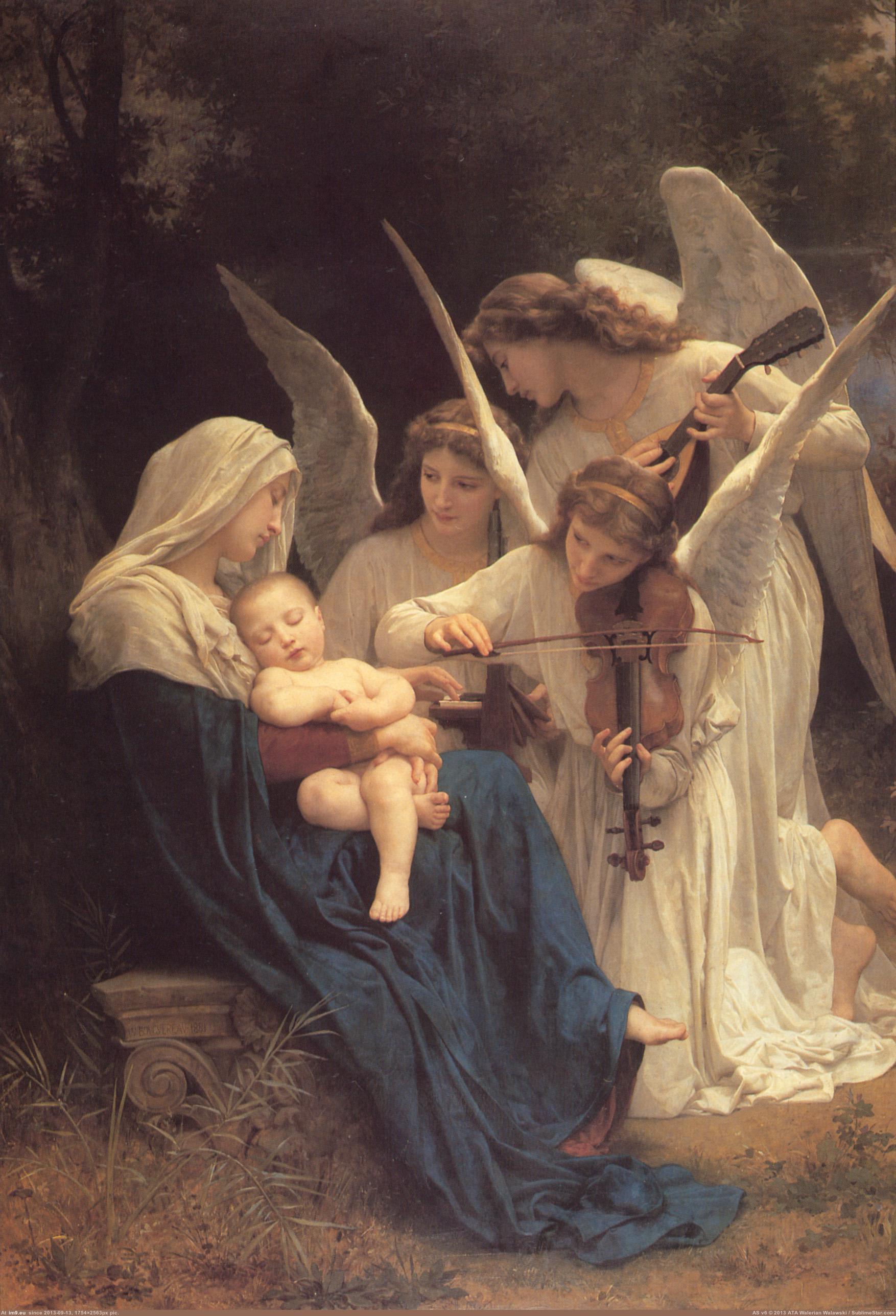 musicsacred-1881-la-vierge-aux-anges-william-adolphe-bouguereau